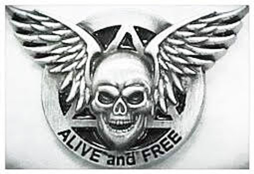 Alive and Free Lapel Pin