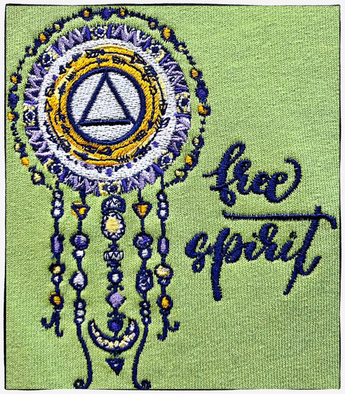 Embroidered Tshirt - Free Spirit