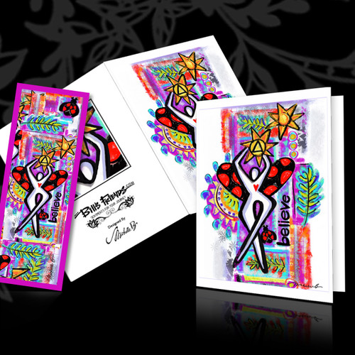 Greeting Card and Bookmark Combo - Believe