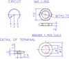 technical drawing for solder lug smooth shaft pot
