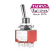 100-DP1-T100B1M1QE DPDT - ON ON - LONG SHAFT - SOLDER - TAIWAY