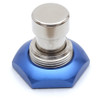 Blue anodized aluminum 3PDT foot switch nut