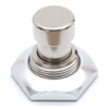 Silver anodized aluminum 3PDT foot switch nut