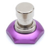 Purple anodized aluminum 3PDT foot switch nut
