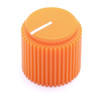 "Danger orange Brutalist knob for 1/4"" shaft"
