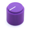 "Purple Brutalist knob for 1/4"" shaft"