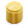 "Mustard yellow Brutalist knob for 1/4"" shaft"