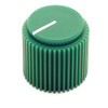 "Green Brutalist knob for 1/4"" shaft"