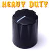 Black Davies 1900 clone knob - Heavy Duty - Brass Insert