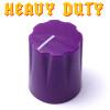 Purple Davies 1900 clone knob - Heavy Duty - Brass Insert