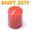 Red Davies 1900 clone knob - Heavy Duty - Brass Insert