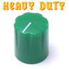 Green Davies 1900 clone knob - Heavy Duty - Brass Insert