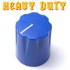 Blue Davies 1900 clone knob - Heavy Duty - Brass Insert