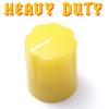 Yellow Davies 1900 clone knob - Heavy Duty - Brass Insert
