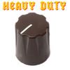 Brown Davies 1900 clone knob - Heavy Duty - Brass Insert