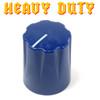 Navy Blue Davies 1900 clone knob - Heavy Duty - Brass Insert