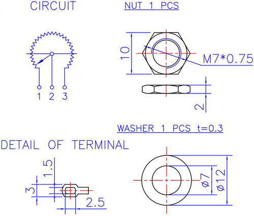 16mm Potentiometer For Guitar Pedals 6 0mm Smooth Shaft
