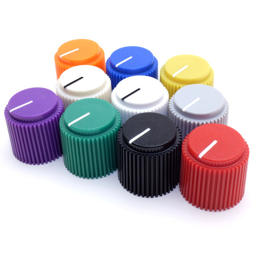"Brutalist knob for 1/4"" shaft - ten colors"