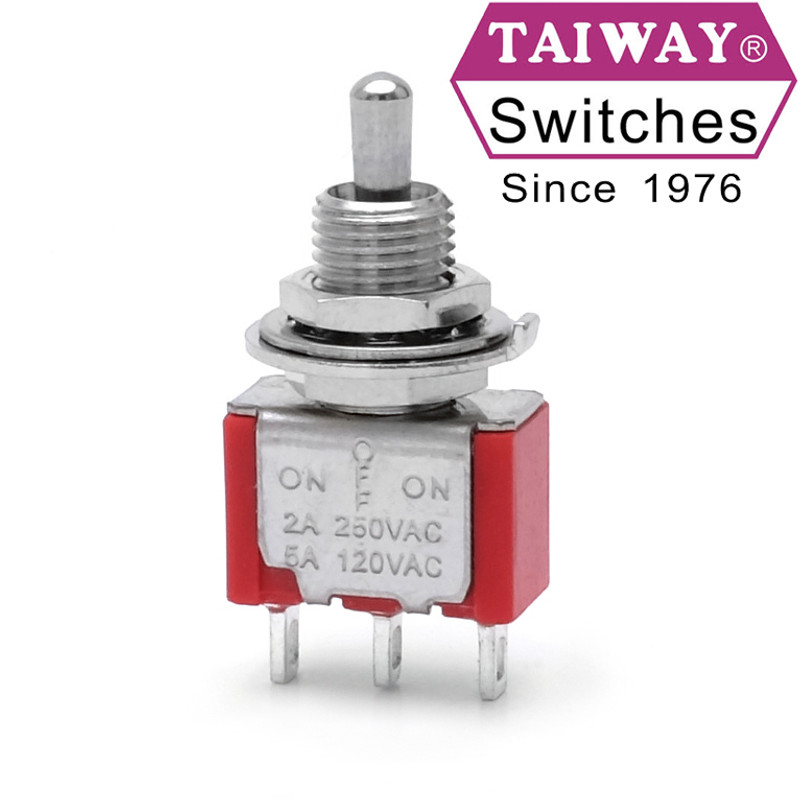 Taiway toggle switch 100-SP3-T200B1M1QE | SPDT On-Off-On