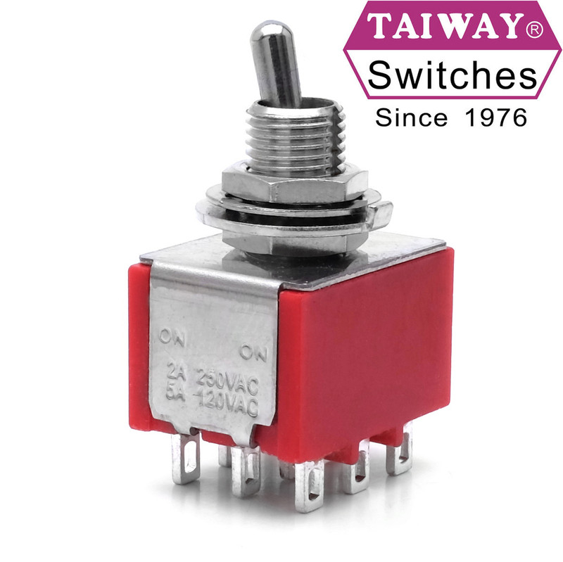 Taiway toggle switch 100-3P1-T200B1M1QE | 3PDT On-On