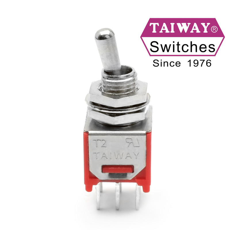 Taiway Sub-Mini DPDT On On Switch - PCB Mount - Short Shaft - Love ...