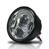 4.65 In LED Chrome Projector Headlight Harley Davidson Dyna Fat Bob FXDF 2008-2016 Black (2 Pack)