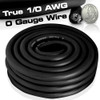 25ft 1/0 0 AWG Gauge Power Ground Wire Cable Black