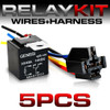5 PIN 40A Relay and Wire Harness SPDT 12V (5 Pack)