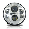 7 Inch Chrome Projector LED Motorcycle Headlight