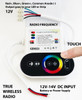 LED Strip RGB Controller RF Wireless Touch Color Wheel Black