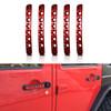 Red Door Handle Inserts Aluminum 5pcs for 2007-2018 Jeep Wrangler JK 4 Door