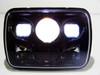 GENSSI 7×6 H6054 200mm LED Projector Headlights DOT Black Set