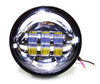"4-1/2"" Chrome LED Auxiliary Spot Fog Passing Light Lamp For Harley Motorcycle"