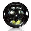 5.75 (5 3/4) Inch LED Black Projector Headlights Round DOT Set