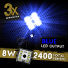 8 Module 48 LED Blue Exterior Truck Bed Rock Lights