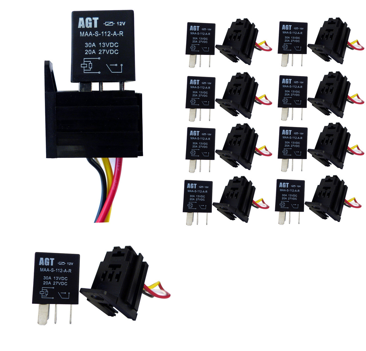 4 pin 30a 12v spst micro relay 10 pack genssi rh genssi com Fuel Pump Relay Wiring Diagram Fan Relay Wiring Diagram