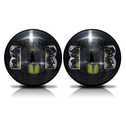 7 Inch Black Projector LED Headlights Set