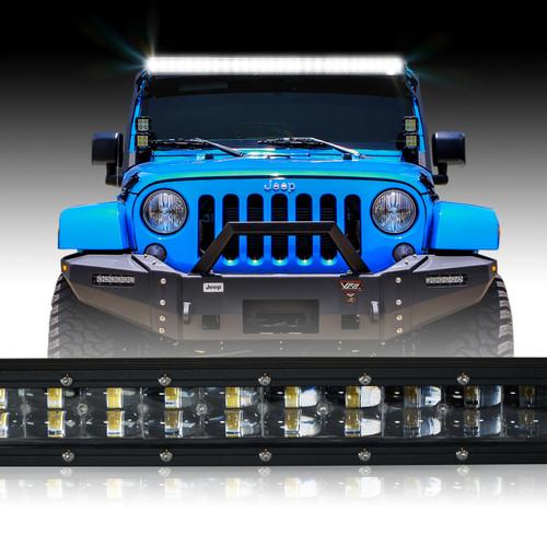 LED Light Bar 288W 50 Inches Bracket Wiring Harness Kit for Wrangler JK 2007-2017