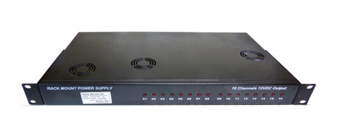 12V 200W 16 Channel Rack Mount Power Supply CCTV 1.5U 12V