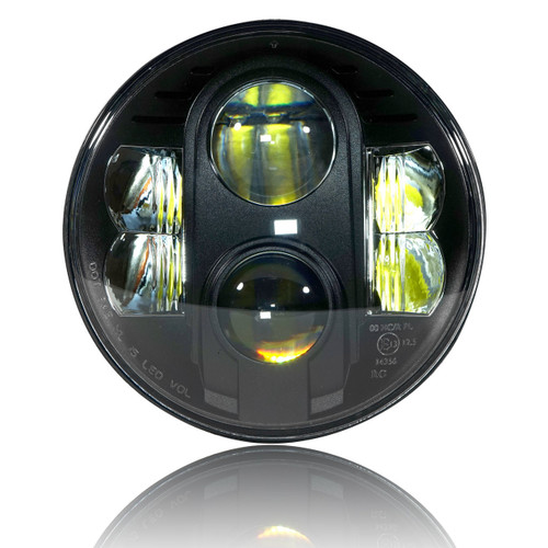 7 Inch Black Projector LED Motorcycle Headlight