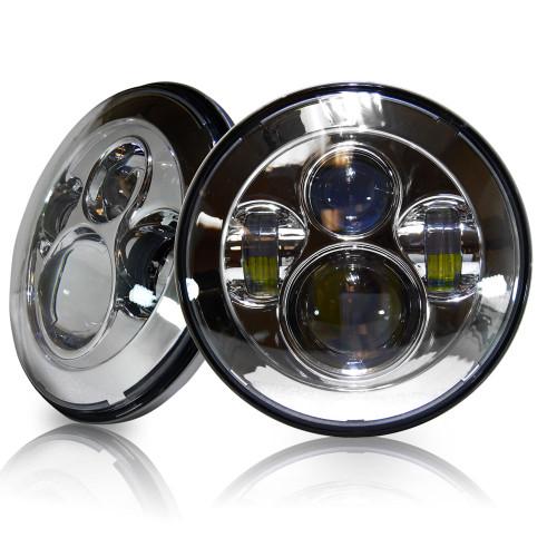 7 Inch Projector Chrome LED Headlights Set