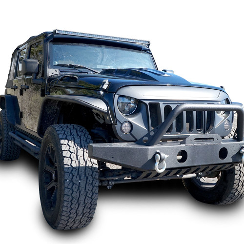 Tubular Front & Rear Fender Flares Set for Wrangler JK 2007-2017