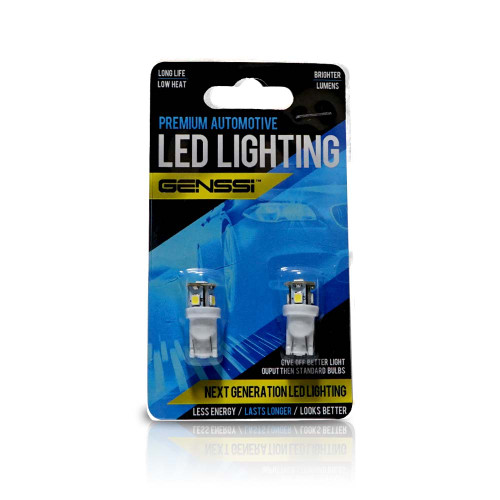 194 168 W5W T10 LED Bulbs 5 SMD 360 (2 Pack)