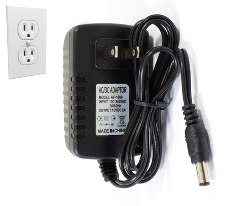 12V 24W Compact LED Power Supply with DC Plug