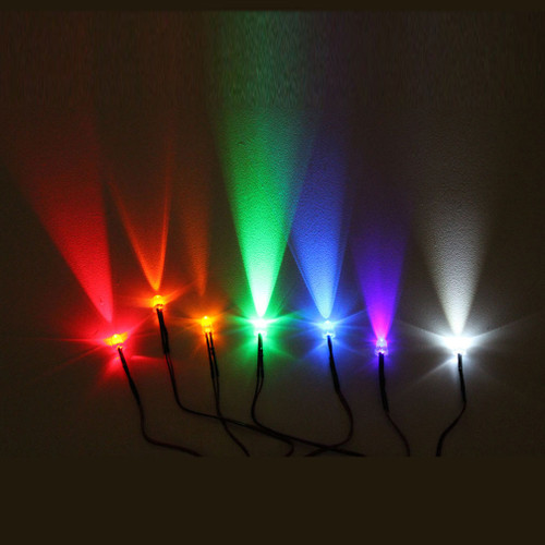 5mm Round LED Lights with 55cm Wire 12V (10 Pack)