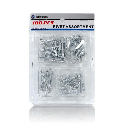 100 Aluminum Pop Rivets 5 Types Set
