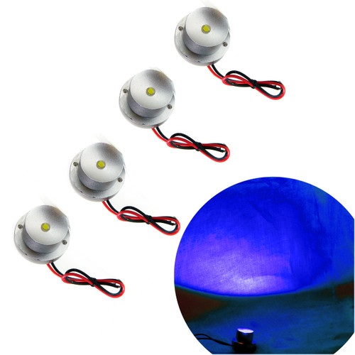 Blue LED Aluminum Module Flood Rock Light (4 Pack)