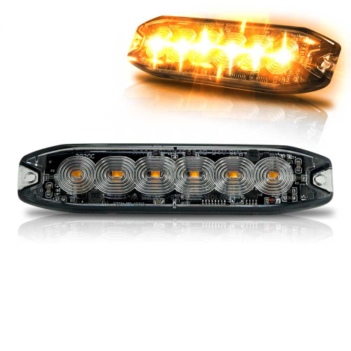 Surface Mount Pro Grade Amber LED Strobe Light 5 LED 15W