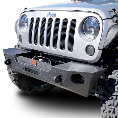 Front 3D Bumper w/Recessed Winch w/OEM Fog Holes for Wrangler 2007-2018