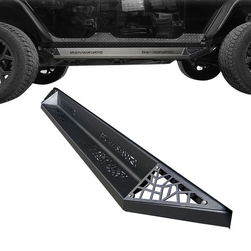 AGGRESSOR Side Steps Rock Sliders for Jeep Wrangler 4dr 2007-2018